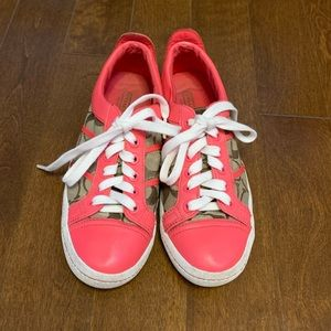 Authentic Coach Pink Logo Sneakers